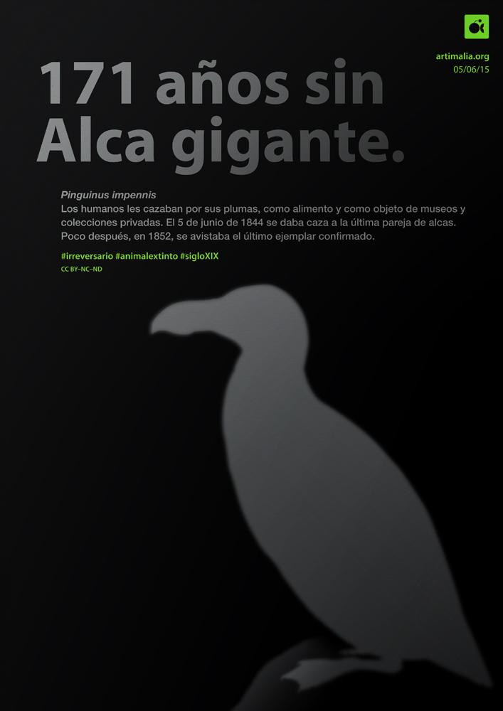 irreversario artimalia extinción alca gigante