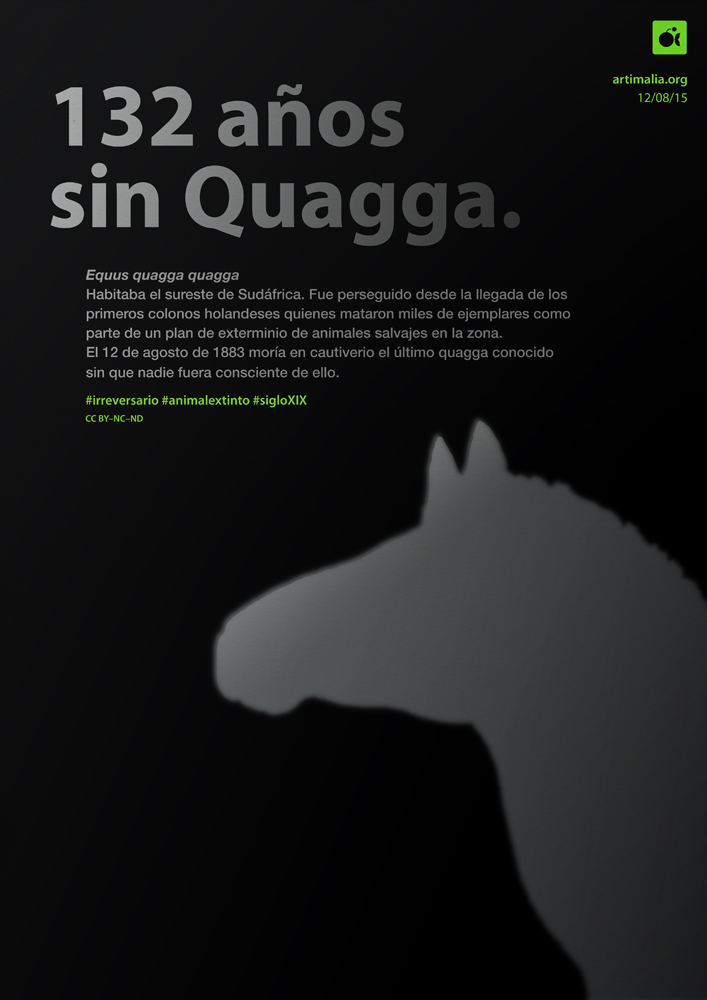 irreversario artimalia extinción quagga