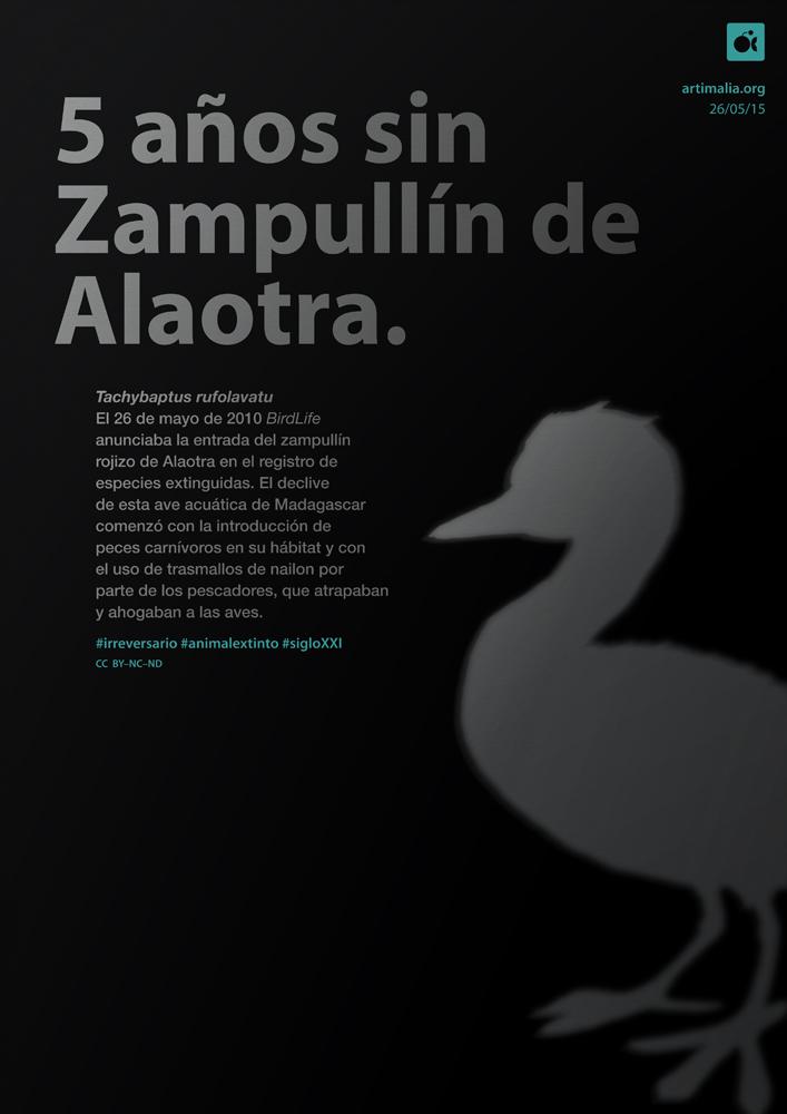 irreversario artimalia extinción zampullin de Alaotra