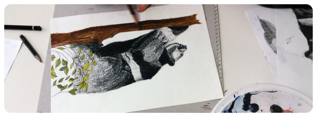 Niños y jóvenes dibujando animales extintos | Artimalia