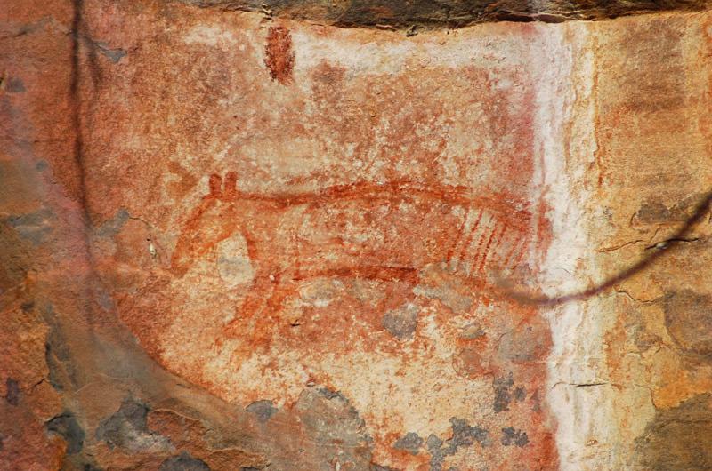 pintura rupestre tilacino Artimalia
