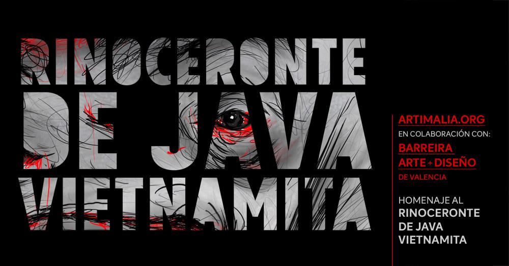 Artimalia: homenaje al rinoceronte de Java vietnamita en colaboracion con el Centro Barreira, Valencia