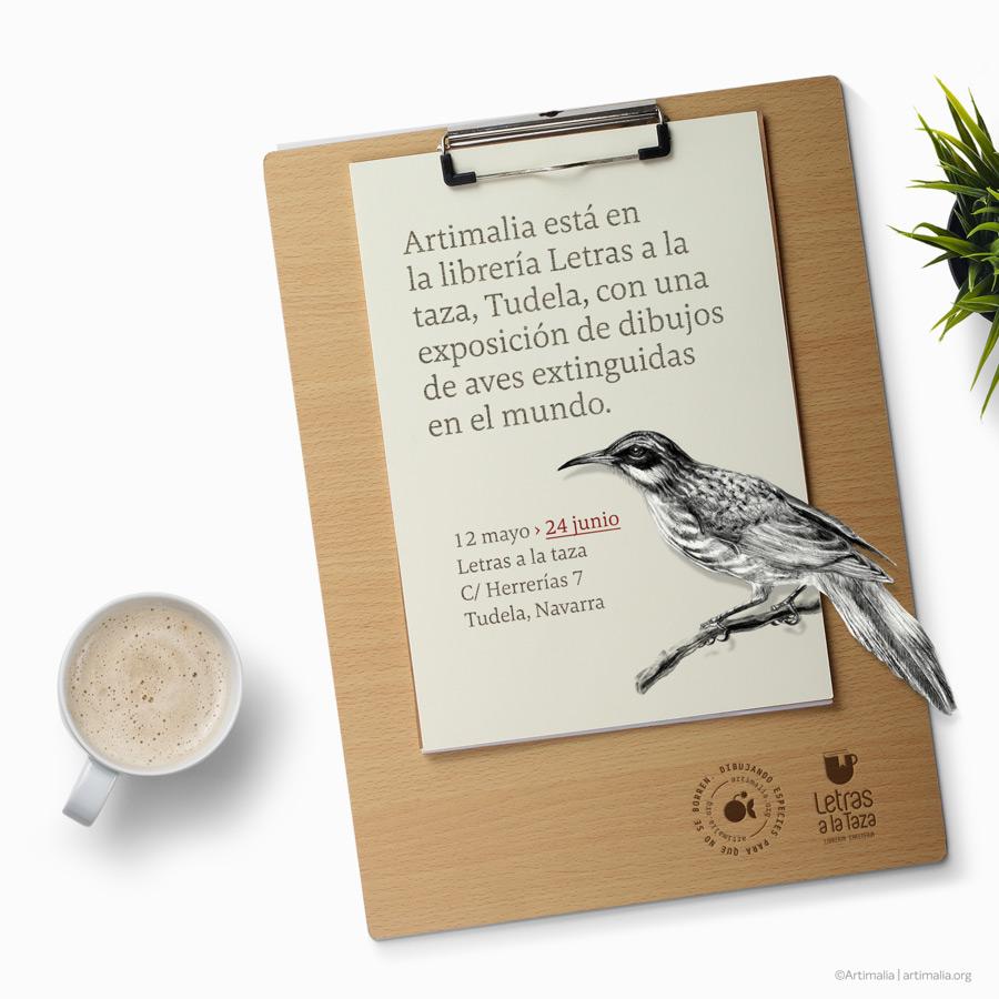 Exposicion de Artimalia en Letras a la taza, Tudela