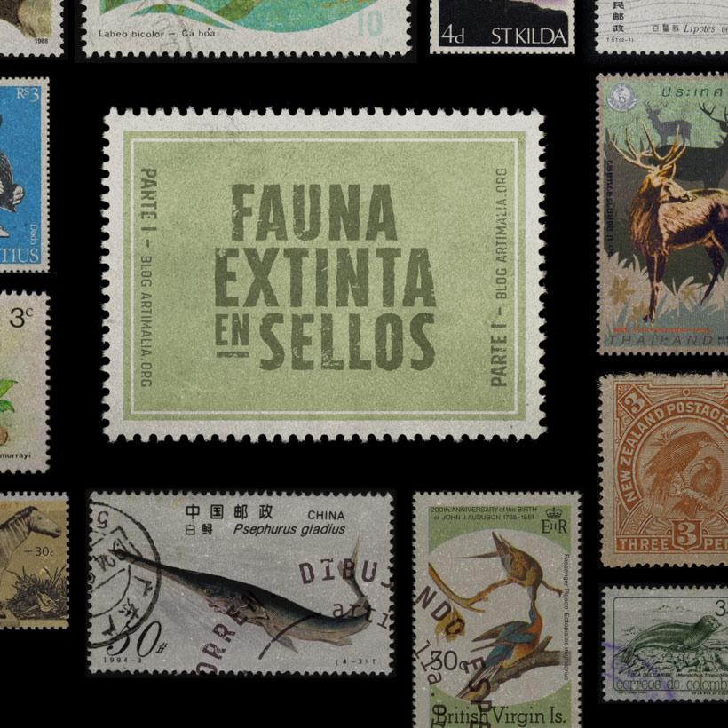 Fauna extinta en sellos postales [1]