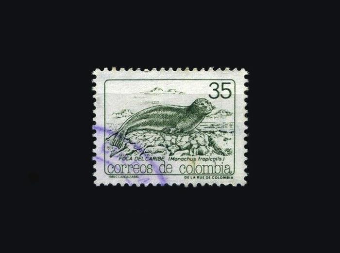Blog Artimalia, sello postal foca monje del Caribe
