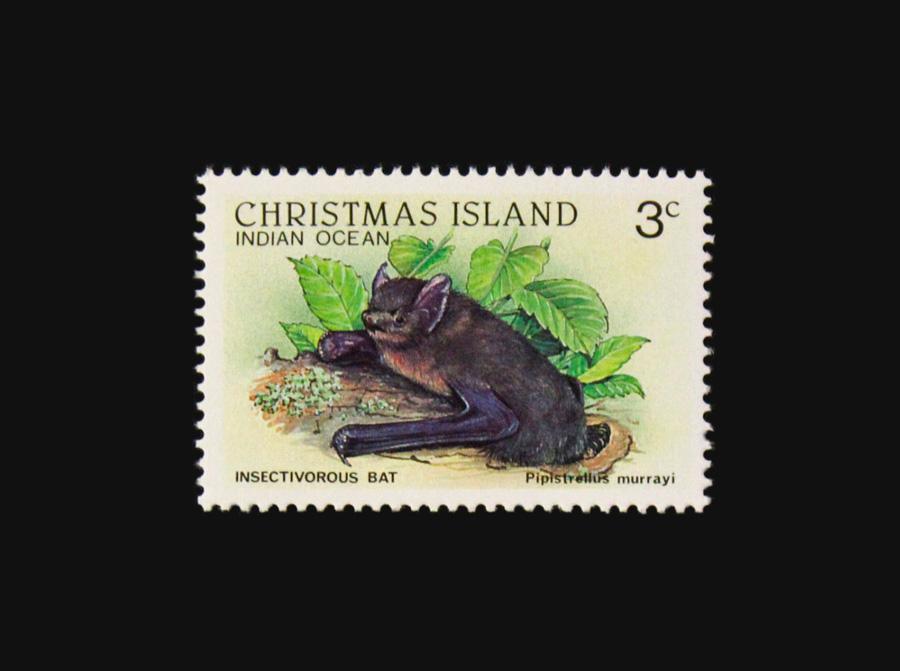 Blog Artimalia, sello postal murciélago de la Isla Navidad