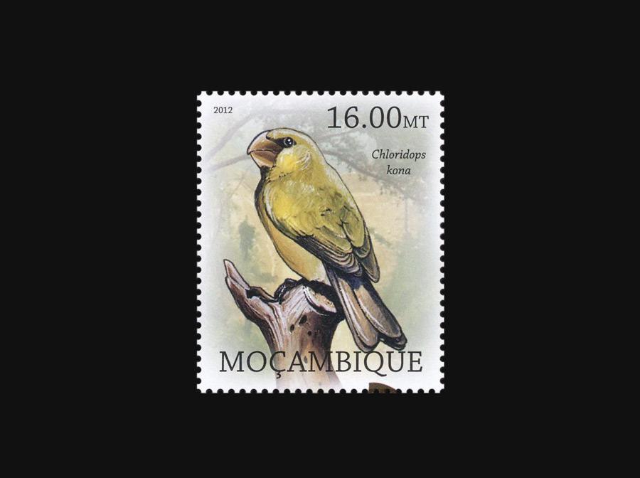 Blog Artimalia, sello postal picogrueso Kona