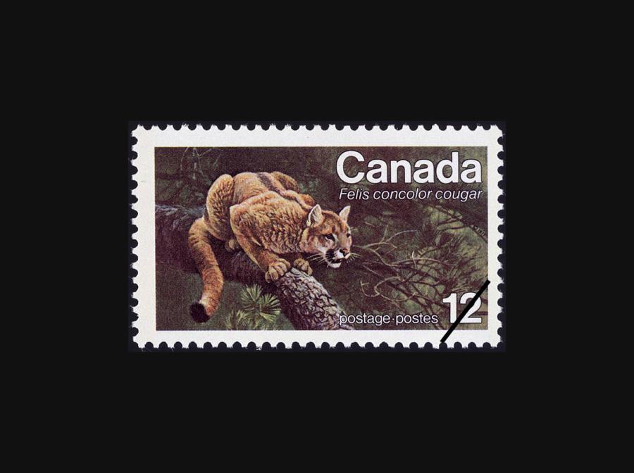 Blog Artimalia, sello postal puma del este de Norteamérica